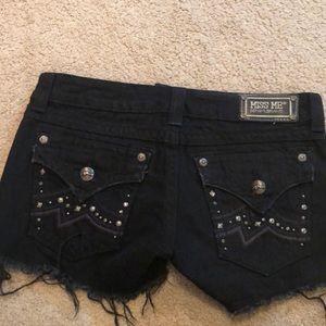 Black Miss Me frayed shorts. Like new!